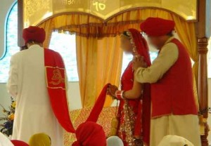 Traditionally, the male has always led the female during the Anand Karaj.